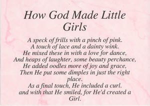 Posters - God made little Girls